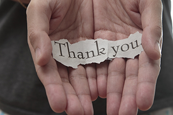 Re-learning to say 'thank you'